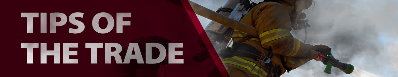 Sign Up for our First Responder Tips of the Trade